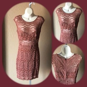 ✨Pink lace casual formal dress wedding cocktail
